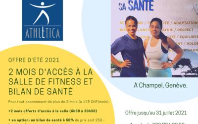 Offre estivale 2021 : +2 mois d'accès à la Salle de Fitness et un Bilan de Santé